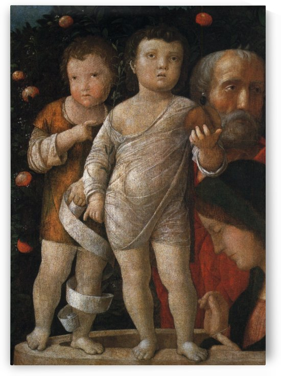 The Holy Family with St John by Andrea Mantegna