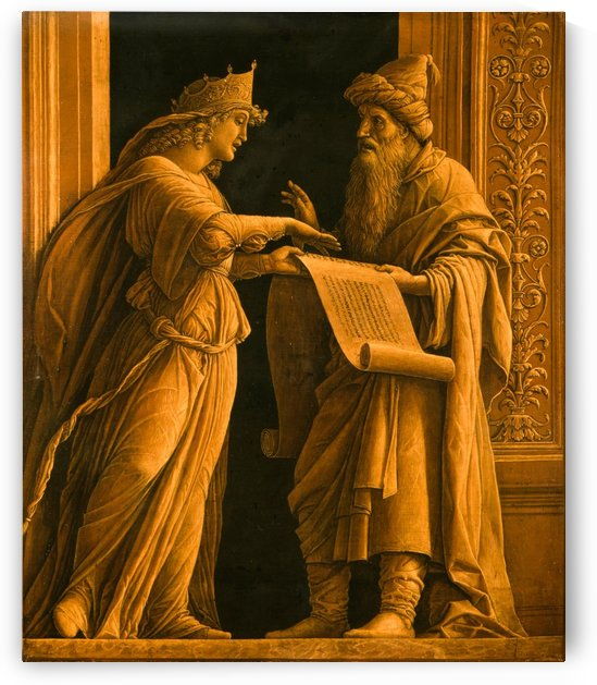 Priest Helqia and the Prophetess Hulda by Andrea Mantegna