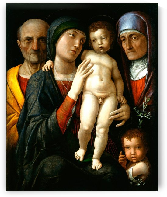 Holy Family with Saints Elizabeth and John the Baptist by Andrea Mantegna