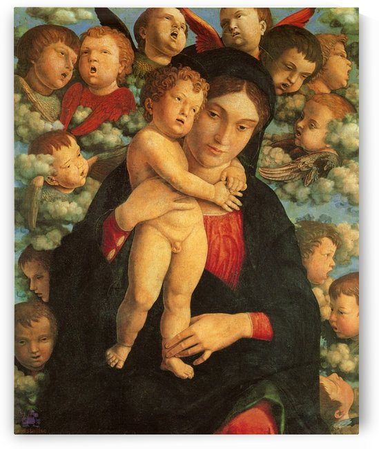 Madonna and Child with Cherubs by Andrea Mantegna