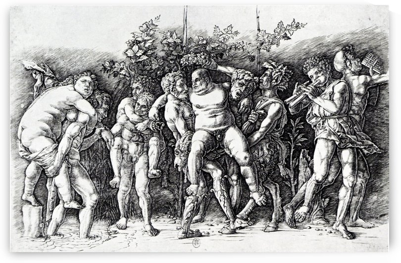 Bacchanal in Silene by Andrea Mantegna