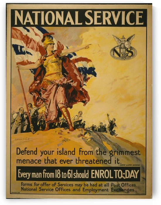 National Service by VINTAGE POSTER