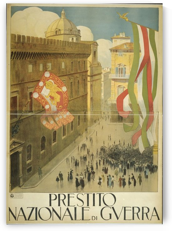 Plaza Italy by VINTAGE POSTER