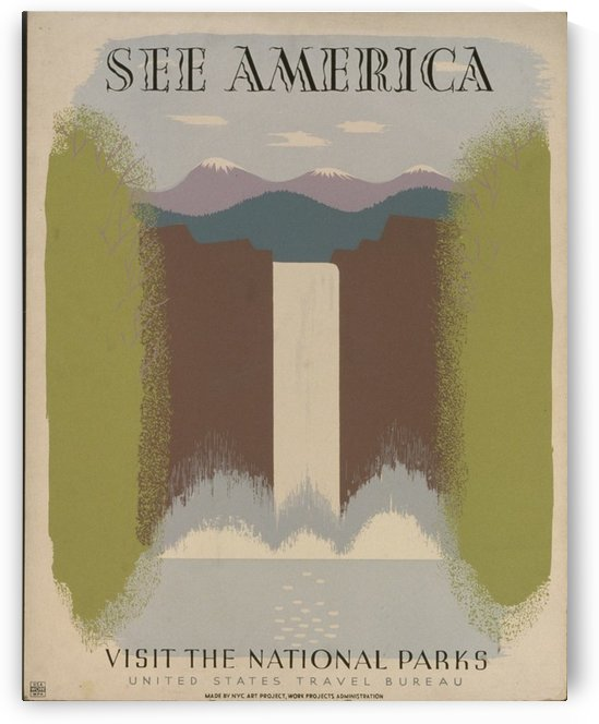See America by VINTAGE POSTER