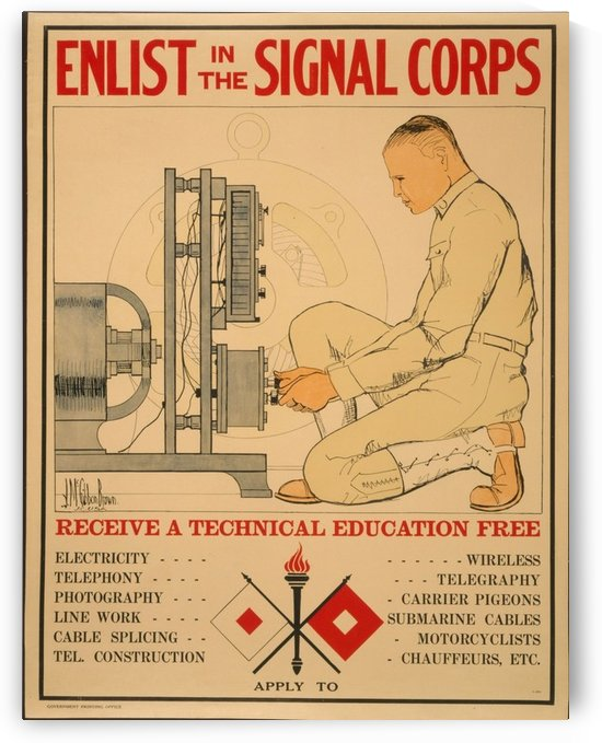 Signal Corps by VINTAGE POSTER