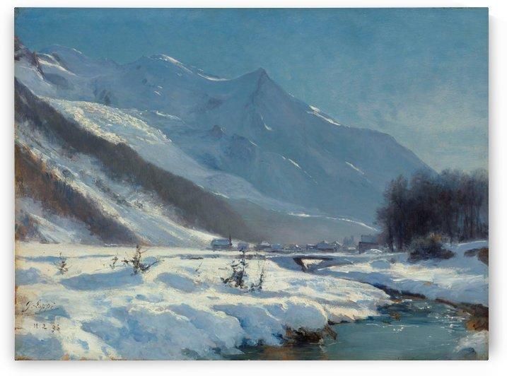 La vallee de Chamonix en hiver by Toussaint Gabriel Loppe