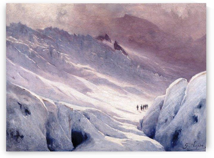 The Glacier des Bossons, Chamonix by Toussaint Gabriel Loppe