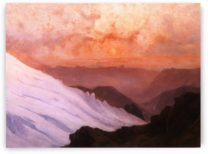 Dawn on Mont Blanc by Toussaint Gabriel Loppe