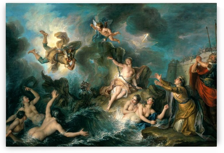 Perseus and Andromeda by Charles-Antoine Coypel