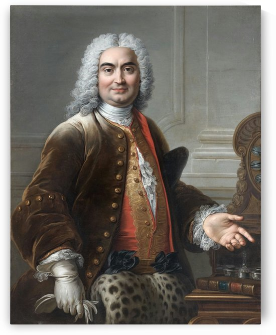 Portrait presume de Charles de Rohan by Charles-Antoine Coypel