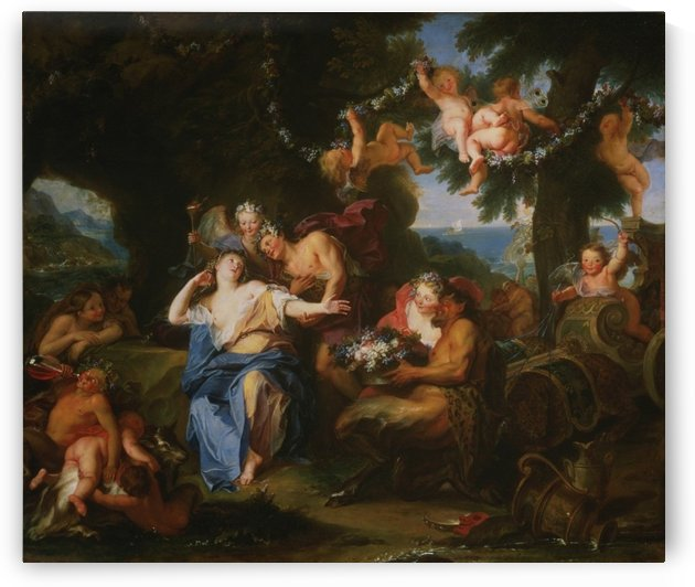 Bacchus and Ariadne on the Isle of Naxos by Charles-Antoine Coypel