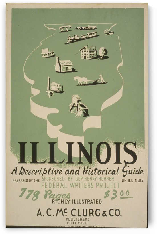 Visit Illinois by VINTAGE POSTER