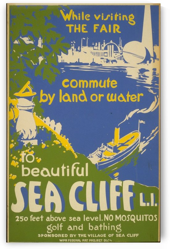 Visit Sea Cliff by VINTAGE POSTER