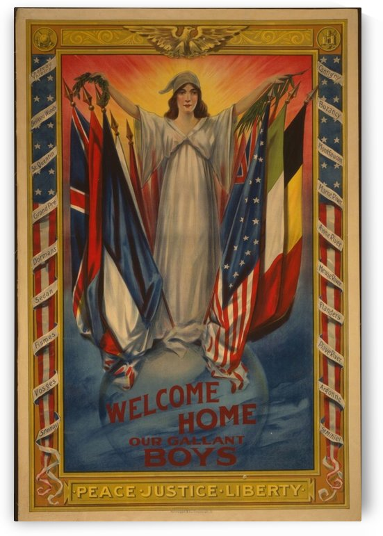 Welcome Home by VINTAGE POSTER