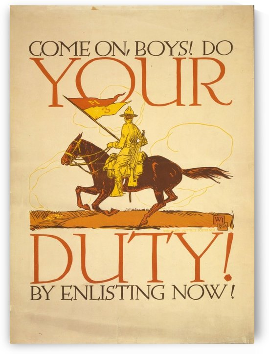 Your Duty by VINTAGE POSTER