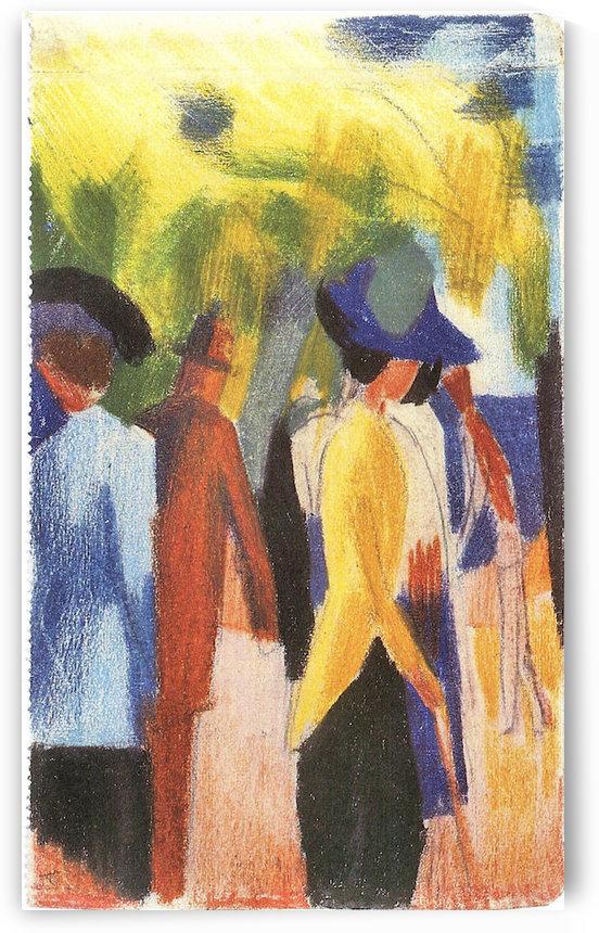 Walking under trees -2- by August Macke by August Macke