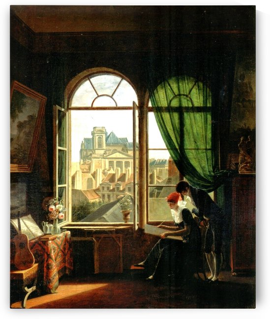 Interior with View of Saint Eustache, 1810 by Martin Drolling