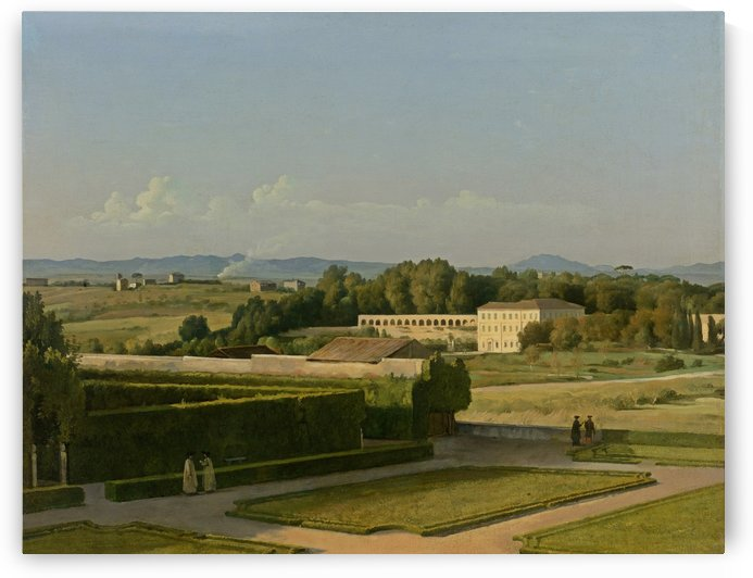 View of the Gardens of Villa Medici by Michel Martin Drolling