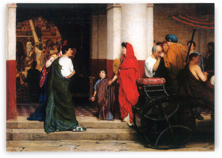 Entrance to a Roman theater by Alma-Tadema by Alma-Tadema