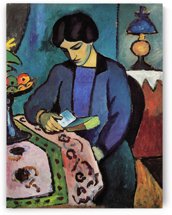 Wife of the artist by August Macke by August Macke