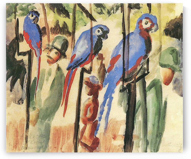 With the Parrots I by August Macke by August Macke