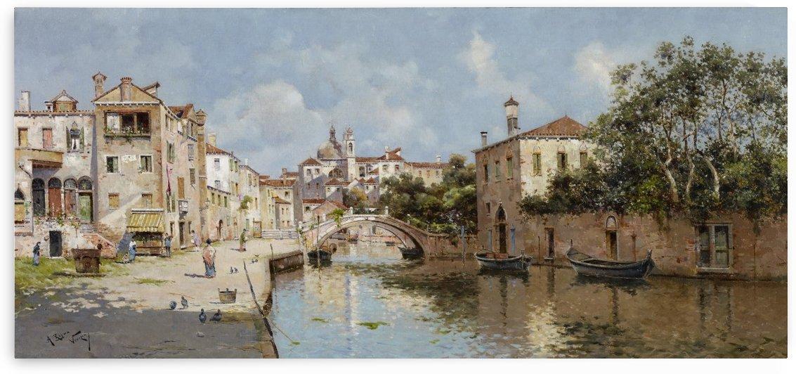 Venetian Canal by Antonio Maria Reyna Manescau