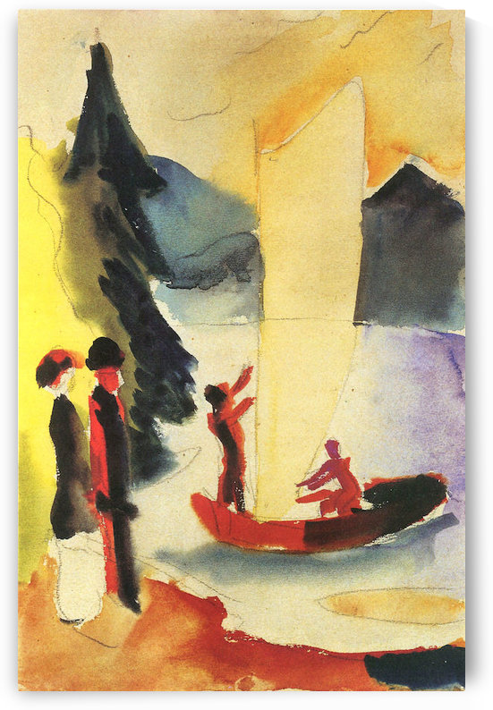 Yellow Sail by August Macke by August Macke