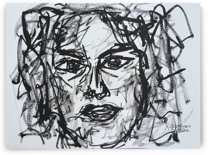 Portrait no 11 by Khalid Alzayani