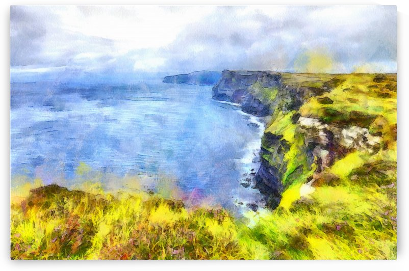 CLIFFS OF MOHER 1 WATERCOLOR by Jean-Jacques MASSOU