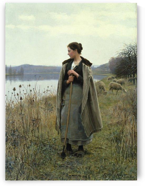 The Shepherdess of Rolleboise, 1896 by Daniel Ridgway Knight