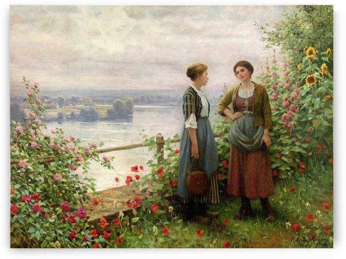 Sur la Terrasse by Daniel Ridgway Knight