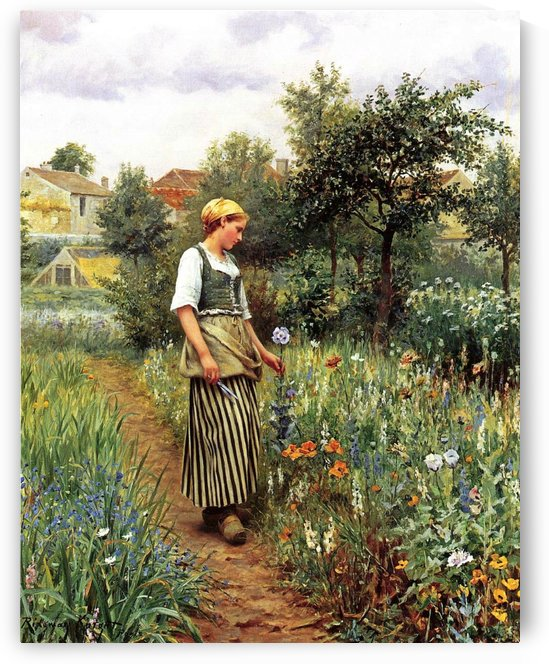 In the Garden by Daniel Ridgway Knight