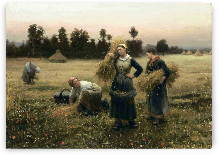 The harvesters by Daniel Ridgway Knight