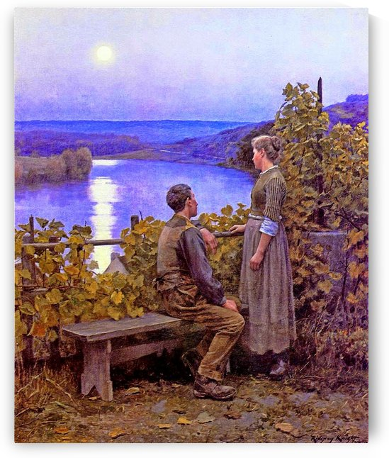 Couple in the garden by Daniel Ridgway Knight