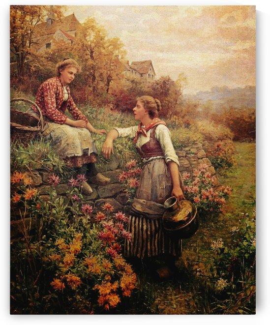 Girl talk by Daniel Ridgway Knight