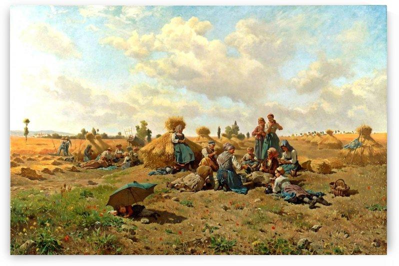 Harvest Scene by Daniel Ridgway Knight