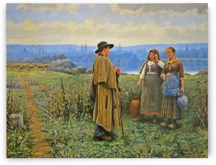An Idle Moment by Daniel Ridgway Knight