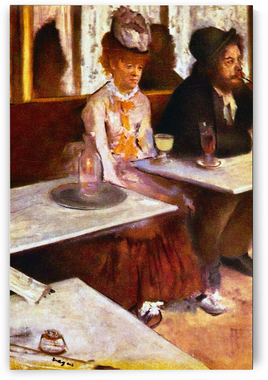 Absinthe Drinkers by Degas by Degas
