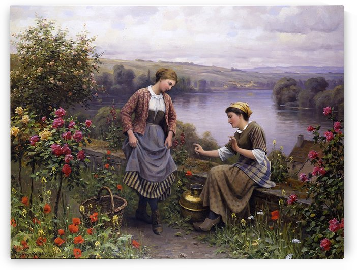 The dance lesson by Daniel Ridgway Knight
