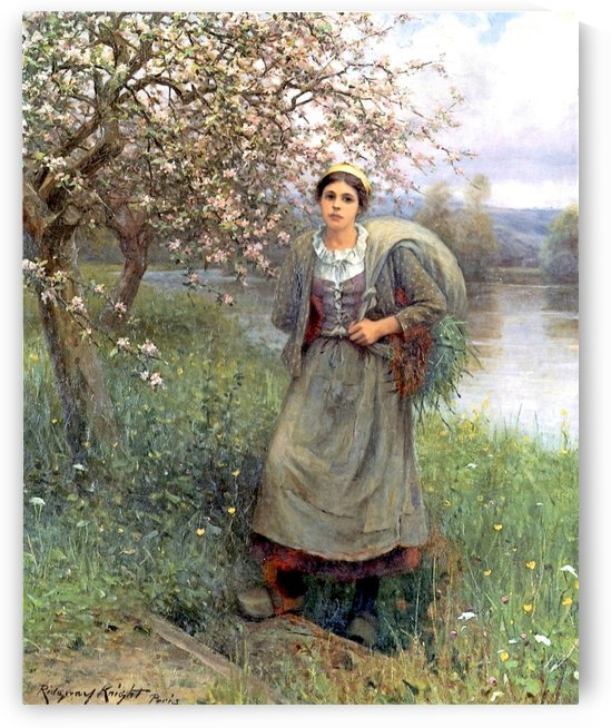 Apple blossoms in Normandy by Daniel Ridgway Knight