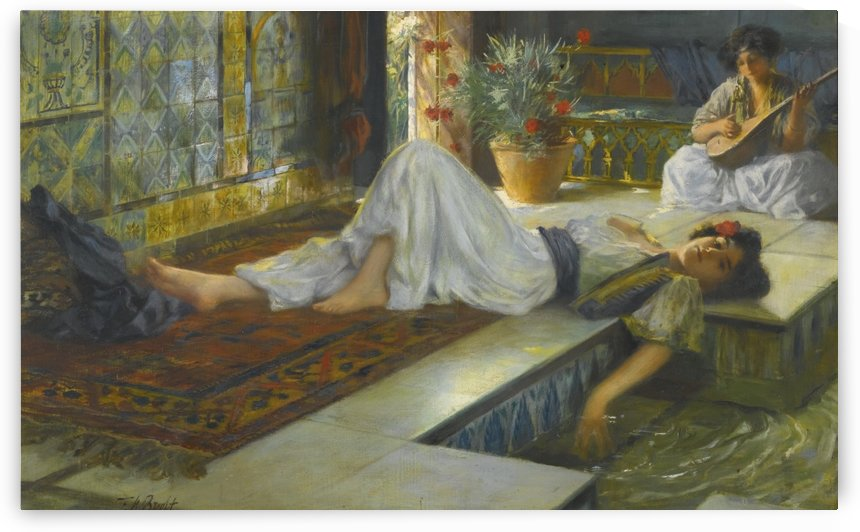 Afternoon repose by Ferdinand Max Bredt