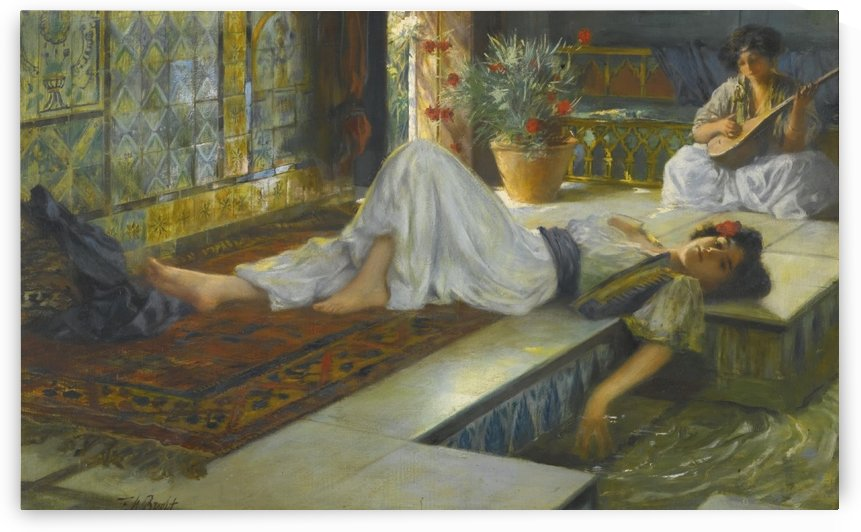 Girls in the harem by Ferdinand Max Bredt