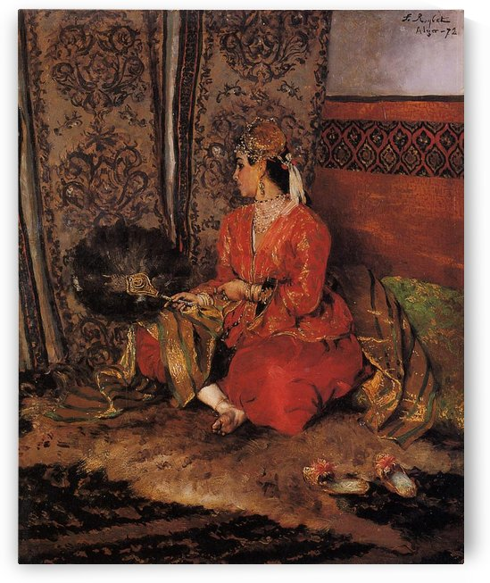 Oriental woman from Alger by Ferdinand Max Bredt