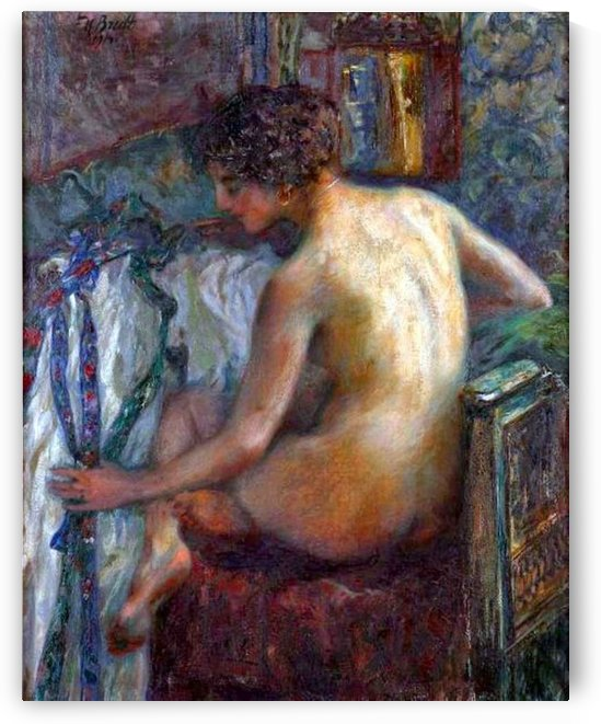 Nude lady by Ferdinand Max Bredt