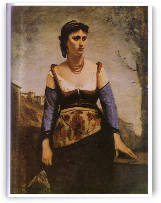 Agostina 1866 by Corot by Corot