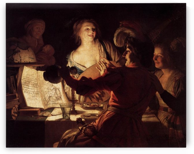 Merry Company by Gerard van Honthorst