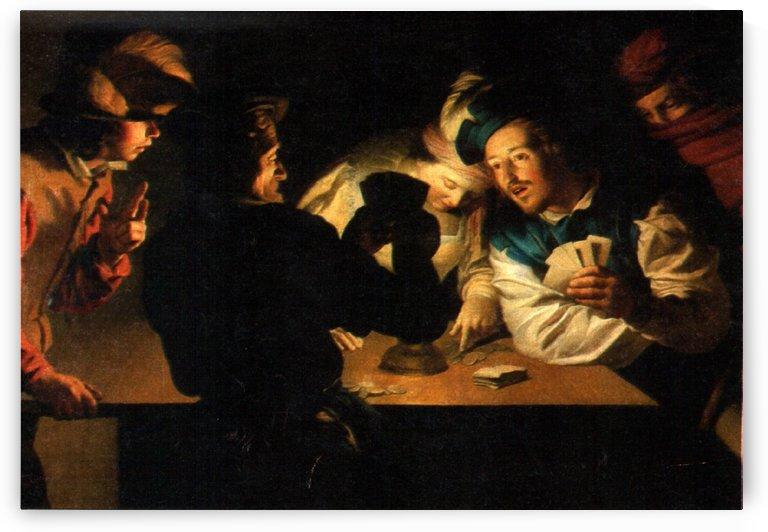 Falschspieler by Gerard van Honthorst