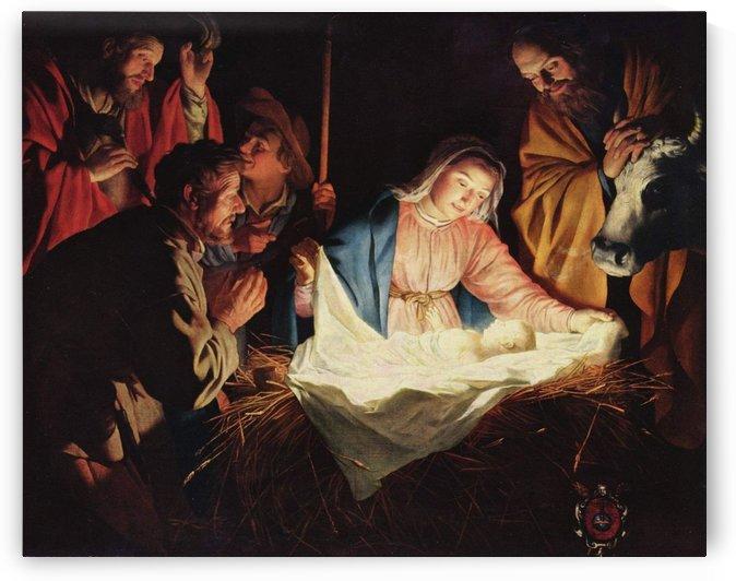 Nativity scene by Gerard van Honthorst