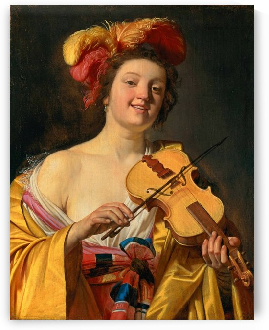 Woman playing the violin, 1626 by Gerard van Honthorst