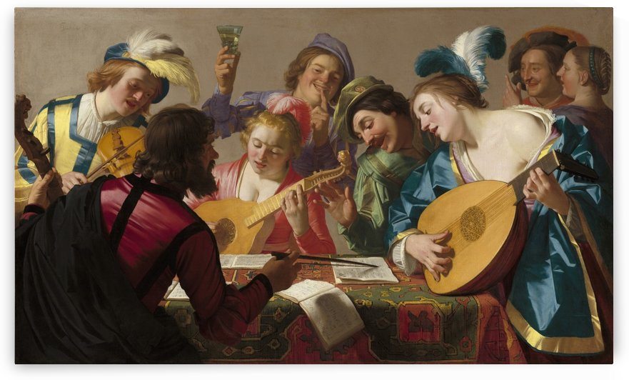 The Concert, 1623 by Gerard van Honthorst
